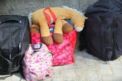 Багаж путешественника Стоковое Фото