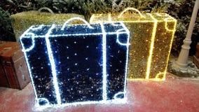 Багаж рождества стоковое изображение rf