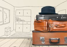 Багаж чемодана стоковое фото