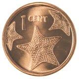 1 багамская монетка цента Стоковое Изображение