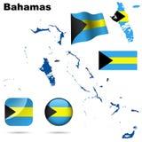 Багамы установили вектор Стоковая Фотография