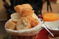 Багет завтрака гостиницы стоковые изображения