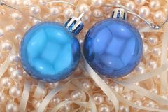 Базар рождества внутри над предпосылкой перлы Стоковое Фото