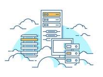 База данных обслуживания облака Стоковые Изображения RF