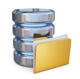 База данных с папкой 3D принципиальной схемы мешковины предпосылки вкладыши коричневой свободные польностью славные размечают тек Стоковые Фото