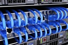 База данных и соединяет сервера кабеля Стоковая Фотография