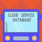 База данных обслуживания облака сочинительства текста почерка Вид спереди окружающей среды концепции оптимизированный смыслом вир бесплатная иллюстрация