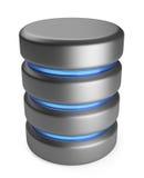 База данных. Принципиальная схема хранения. икона 3D изолировала иллюстрация вектора