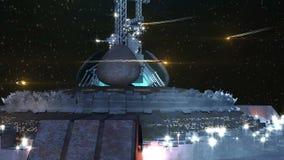 База чужеземца около земли бесплатная иллюстрация