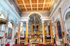 Базилика Венеция Италия алтара церков Сан Silvestro Стоковые Фото