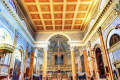 Базилика Венеция Италия алтара церков Сан Silvestro Стоковые Фотографии RF