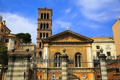 Базилика Санты Pudenziana в Риме, Италии Стоковая Фотография RF