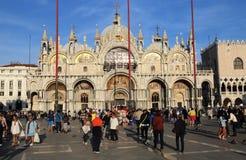 Базилика Сан Marco в Венеции, Италии стоковое изображение
