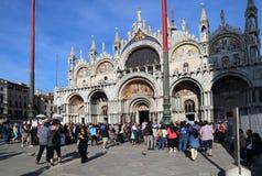 Базилика Сан Marco в Венеции, Италии стоковые изображения