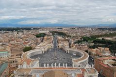 Базилика Сан Pietro в городе Ватикана в Риме Стоковое фото RF