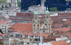 Базилика священного сердца Иисуса в Загребе Стоковое Изображение