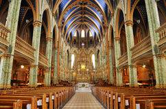 Базилика собора Нотре Даме, Оттава Стоковое Фото