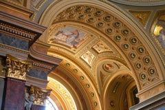 базилика budapest s stephen стоковое изображение rf