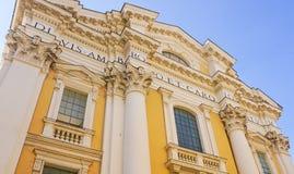 Базилика Chu Corso al Corso San Carlo al Ambrogio e Carlo ` Sant стоковые изображения
