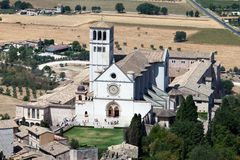 Базилика d'Assisi Сан Francesco Стоковые Изображения