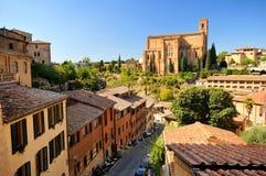 базилика domenico san siena стоковая фотография