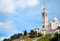 Базилика Garde Ла Нотр-Дам de Стоковые Изображения