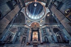 Базилика ` s St Peter в Риме Стоковое фото RF