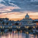 Базилика ` s St Peter в Риме Стоковое Изображение RF
