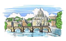 Базилика ` s St Peter в Риме бесплатная иллюстрация