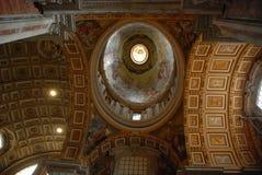 Базилика ` s St Peter, Рим, базилика ` s St Peter, купол, здание, базилика, византийская архитектура Стоковое Изображение