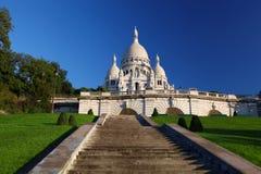 Базилика Sacre-Coeur в Париже Стоковое Изображение