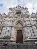Базилика Santa Croce в исторических di Firenze центра города o Флоренса Santa Croce - ФЛОРЕНСА/ИТАЛИИ - 12-ое сентября Стоковые Изображения RF