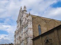 Базилика Santa Croce в исторических di Firenze центра города o Флоренса Santa Croce Стоковая Фотография