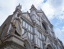 Базилика Santa Croce в исторических di Firenze центра города o Флоренса Santa Croce Стоковые Изображения