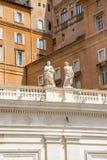 Базилика St Peter, церков в Ватикане, Риме Стоковые Фото