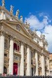 Базилика St Peter, церков в государстве Ватикан Стоковые Изображения RF