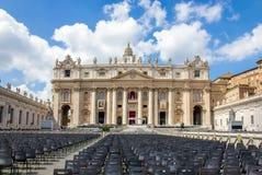 Базилика St Peter, церков в государстве Ватикан Стоковое Изображение