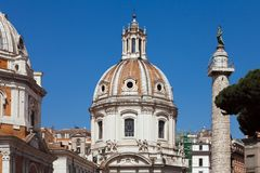 Базилика Ulpia Италия rome стоковое изображение rf