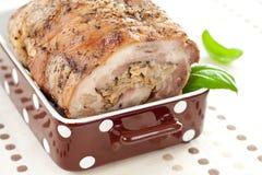 базилик выходит крен мяса Стоковые Фото