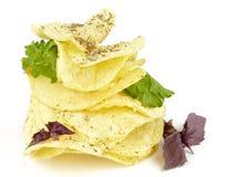 базилик откалывает пирамидку картошки петрушки Стоковые Изображения