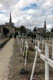 Базилика кладбища Сент-Луис de Montfort на St Laurent Стоковое фото RF