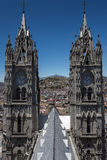 Базилика национального зарока в Кито, эквадоре Стоковые Изображения