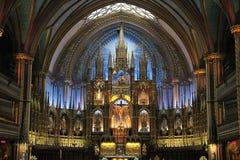 Базилика Нотр-Дам Монреаля Стоковое фото RF