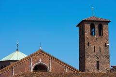 Базилика Святого Ambrogio - Милана Италии Стоковое Изображение RF