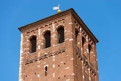 Базилика Святого Ambrogio - Милана Италии Стоковая Фотография RF