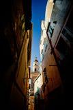 Базилика Свят-Мишеля Archange, Menton, Франция Стоковое фото RF