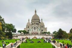 Базилика священного сердца Парижа (Sacre-Coeur) Стоковые Фотографии RF