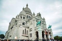 Базилика священного сердца Парижа (Sacre-Coeur) Стоковые Изображения RF