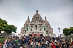 Базилика священного сердца Парижа (Sacre-Coeur) Стоковое Изображение