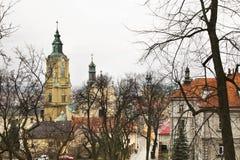 Базилика собора в Przemysl Польша стоковые изображения rf
